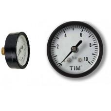 Манометр для измерения давления горизонтальный TIM Y-50-10bar